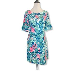 Pappagallo Floral Ruffle Sleeve Dress size…